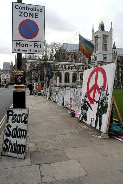 Brian Haw peace displays