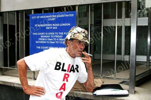 Brian Haw outside Court