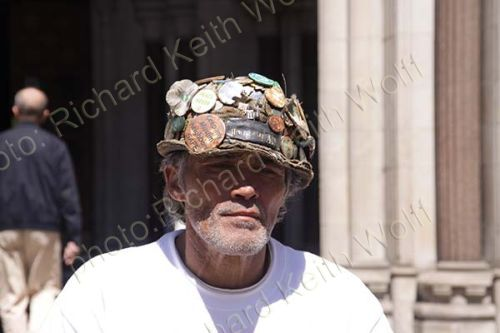 Brian Haw outside High Court