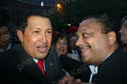 President Hugo Chavez & Marc Wadsworth