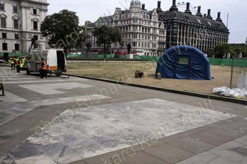 Parliament Square Gardens banned