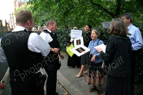 """Police: """"Who is your leader?"""" Lady: """"The Lord our God"""""""