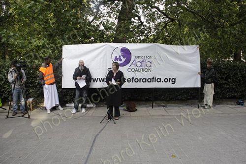 Liz Davies, Justice for Aafia