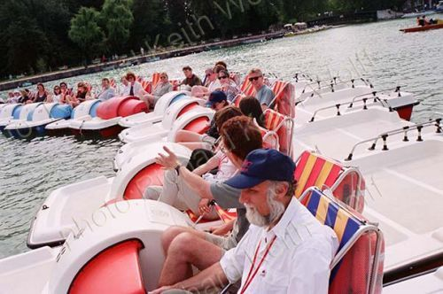 pedal boat race at Annecy
