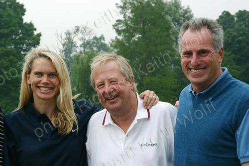 Tim Brooke-Taylor with Anna Walker & Ray Clemence