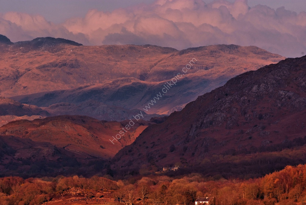 Scafell and the Lakeland fells