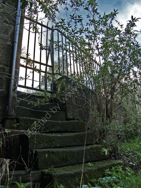 Steps leading into Troy Mill
