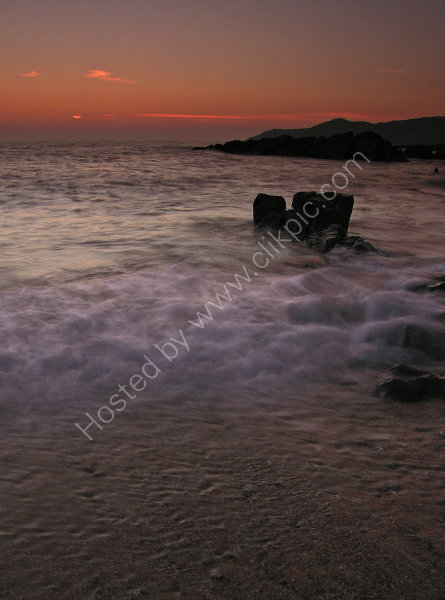 Sunset taken from Harris Cove, Woolacombe