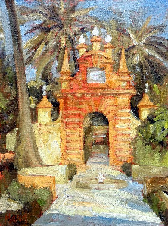 Puerta de Neptuno, El Alcázar