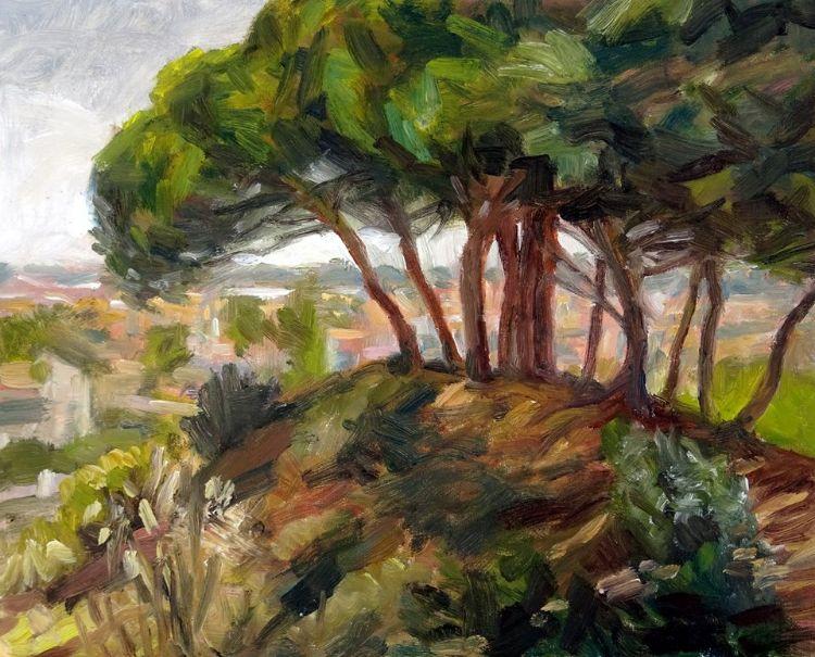 The wood overlooking Rota