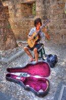 Barefoot guitarist