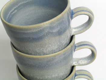 Tall flare mugs (detail).