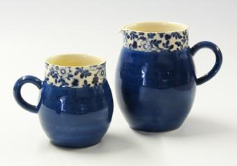 Blue ball chintz mug and jug