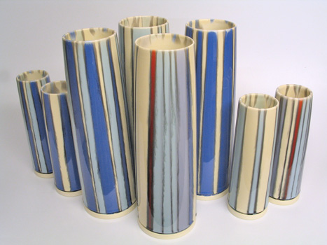 Vase group. 30cm and 20cm.