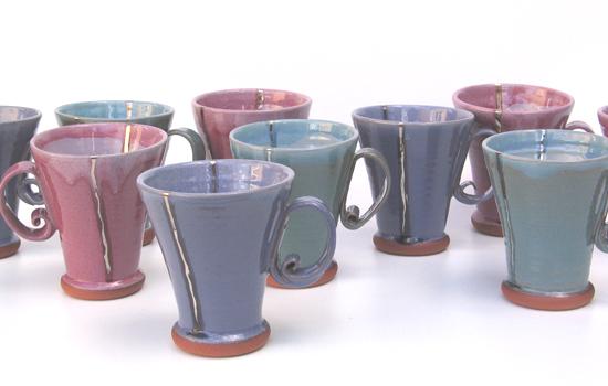 Conical mugs.