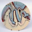 Encroaching seas plate. 32cm.