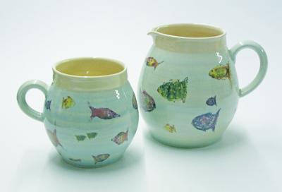 Fish mug and jug