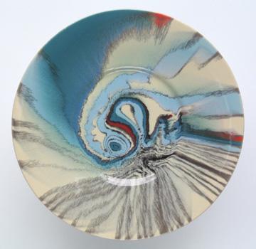 Meander plate. 25cm.