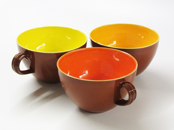 Oranges and lemons terracotta cups