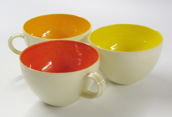 Oranges and lemons white cups