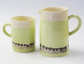 Sheep mug and jug