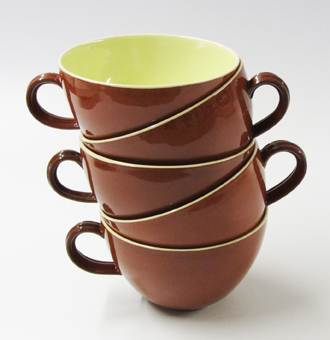 Terracotta cup stack