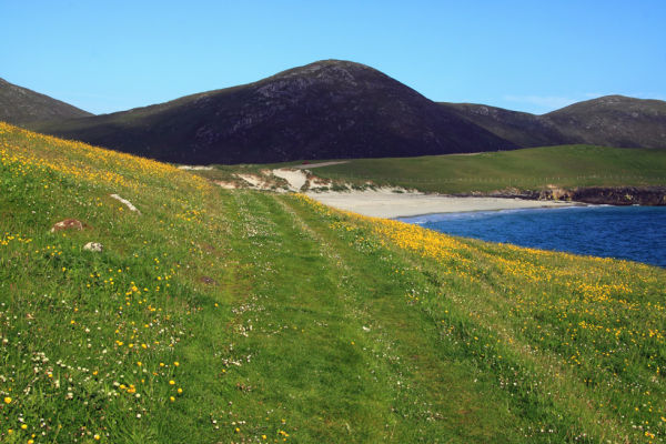 Beach and Machair at Northton south Harris.
