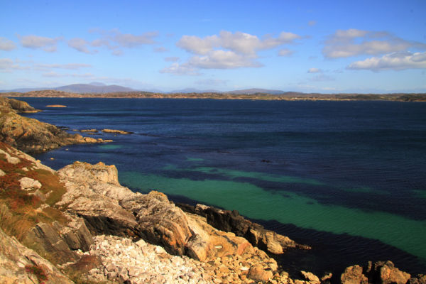 View from the cliff above the Marble Quarry which is situated on the southern edge of Iona