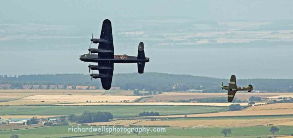 Lancaster and Spitfire, East Fortune