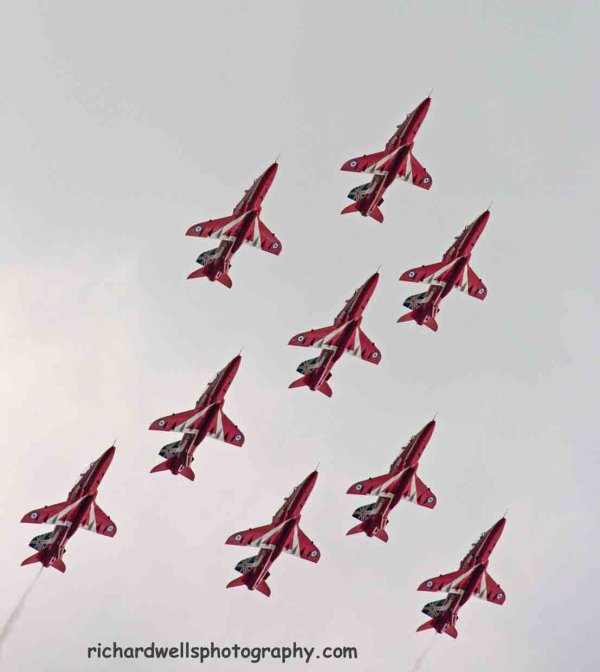 Red Arrows - Close Formation