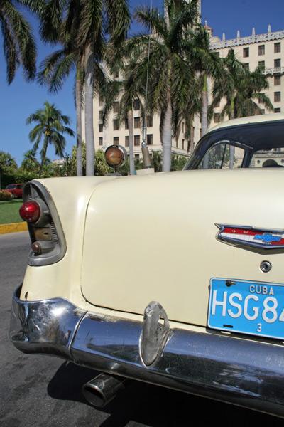Classic Car and The Hotel Nacional