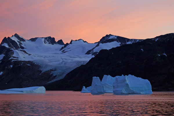 Pink Sunset - East Greenland