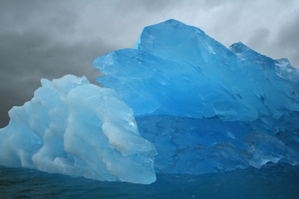 Blue and White Bergs, East Greenland.