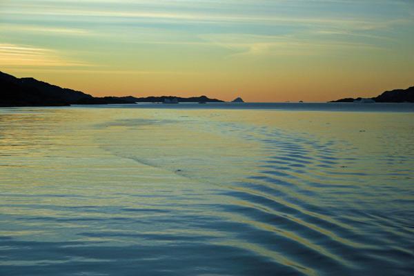 leaving Balder Fjord...