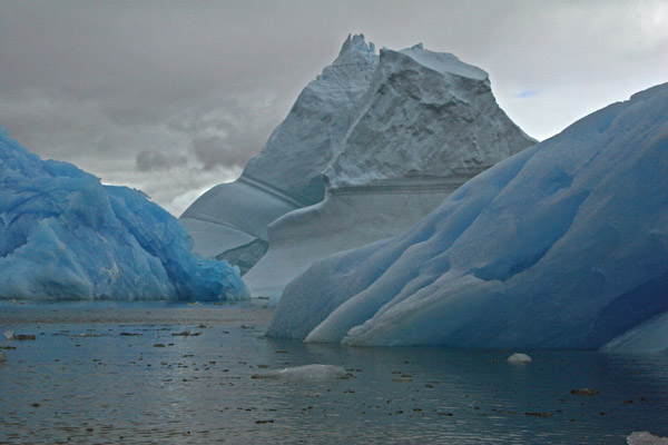 Blue and White Bergs