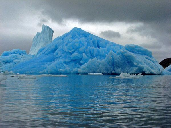 Blue Ice Pyramid Berg Napassorsuaq Fjord East Greenland