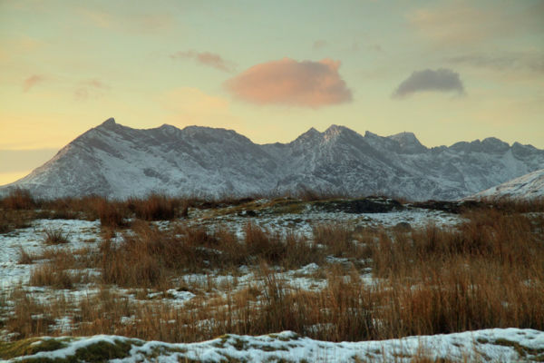 Sunset over the Cuillins