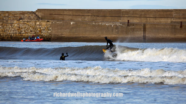St Andrews Harbour Surfers