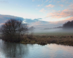 Misty Sunset on the River Frome