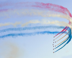 Red Arrows at Weymouth Carnival 2014