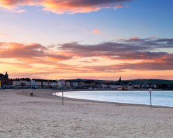Sunset over Weymouth Bay