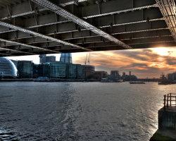 Sunset under Tower Bridge