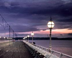 Evening walk along the pier
