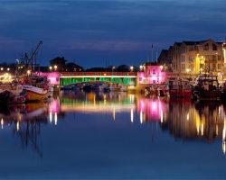 Town Bridge After Sunset