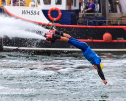 Flyboarding Demonstration at Waterfest 2015 a
