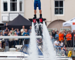 Flyboarding Demonstration at Waterfest 2015 f