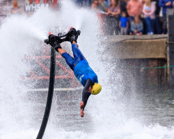 Flyboarding Demonstration at Waterfest 2015 i