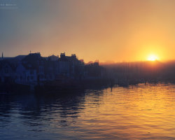 Misty Sunset over Weymouth Old Harbour