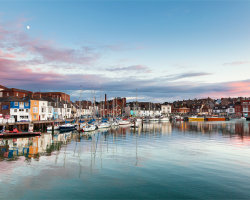 Weymouth Harbour Moon