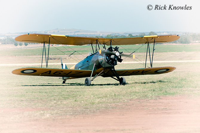 Vintage Yellow Biplane
